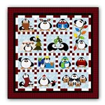 <i>New! </i>Penguin Cheer Flannel Block of the Month or All at Once - Starts January