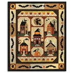 DELUXE - Sew Spooky Quilt All at Once Kit - EXACT FABRICS, Plus Aurifil Thread & Specialty Packs & Backing