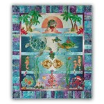 Back in Stock!  Tropical Noel Quilt Kit - Pre-fused & Laser Cut!  By McKenna Ryan.  Free US Shipping