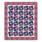 Twirls and Swirls Batik Extra Large Twin /Double Quilt Kit