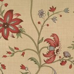 Maison de Garance - Large Floral on Tan - by French General for MODA