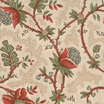 Maison de Garance - Flowers and Vines on Tan - by French General for MODA