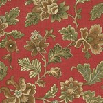 Maison de Garance - Flowers on Red - by French General for MODA