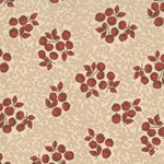 Maison de Garance - Red Pods on Tan - by French General for MODA