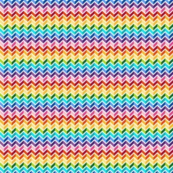 ColorWorks - Rainbow Chevron on White- by Deborah Edwards for Northcott