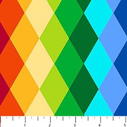 ColorWorks - Rainbow Diamond Pattern  by Deborah Edwards for Northcott
