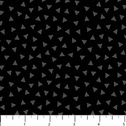 ColorWorks - Black/Grey Triangle- by Deborah Edwards for Northcott