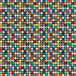 ColorWorks - Colorful Dots on Black- by Deborah Edwards for Northcott