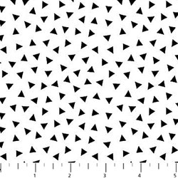 ColorWorks - Black/White Triangle- by Deborah Edwards for Northcott