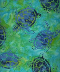 Sea Turtles -Sea Shore - Batiks  by Michael Miller Fabrics