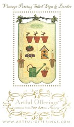 Vintage Potting Shed Sign & Border Pattern- Artful Offerings