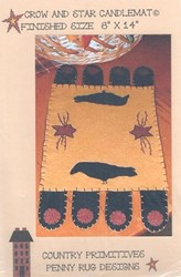 Crow and Star Candlemat Kit- by Country Primitives