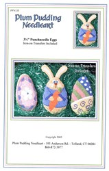 Punchneedle Eggs Pattern - Plum Pudding Needleart