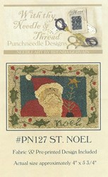 St. Noel Pattern- Punchneedle Designs<br> With thy Needle & Thread