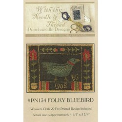 Folky Bluebird Pattern- Punchneedle Designs With thy Needle & Thread
