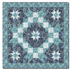 Midnight Snowstorm Batik Quilt Pattern Download