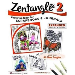 Zentangle 2 - Scrapbooks & Journals - Expanded Workbook Edition, by Suzanne McNeill, CZT