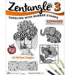 Zentangle 3 - Tangling with Rubber Stamps - Expanded Workbook Edition, by Suzanne McNeill, CZT