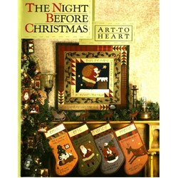 Vintage Find!  The Night Before Christmas Book & Button Kitby Art To Heart
