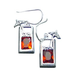 Sterling Silver Tropical Drink with Umbrella Earrings