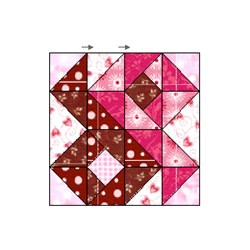Chocolate Raspberry Fudge Block - Pattern Download