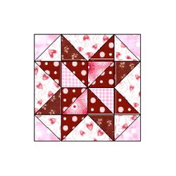 Chocolate Rocky Road Round Block - Pattern Download