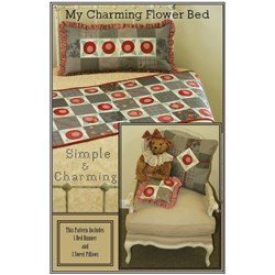 My Charming Flowerbed Runner Pattern Plus 3 Bonus Pillow Patterns