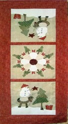 Around The Christmas Tree Table Runner Pattern <br>by Fig 'n' Berry Creations
