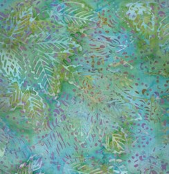 "24"" Remnant - Island Batik - LIGHT Blue/Green Speckle"