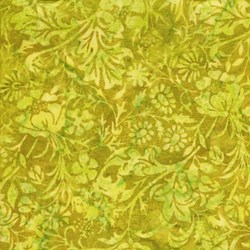 "End of Bolt - 76"" - Island Batik - Green Pring - 111820651"