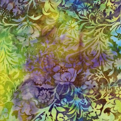 Island Batik - Mardi Gras - Blue/Purple/Green