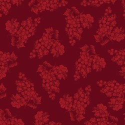 "3 strips @ 12"" x 17"" Remnants  - Vintage  1134-85  From Henry Glass Fabrics -Dark Red Tonal Grapes"
