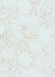 "7"" Remnant- Anthology Chromatic Light Tan Flowers on Cream"