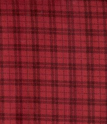 "End of Bolt - 65"" Red Double Window Pane  - Woolies Cotton Flannel"