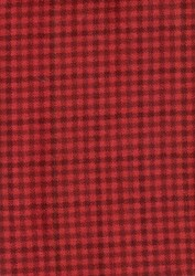 "End of Bolt - 53"" - Remnant- Woolies Flannel -Red Check by Maywood Studios"