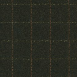 "15"" Remnant- Woolies Flannel - Dark Brown Grid- by Maywood Studios"