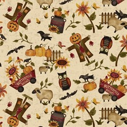"End of Bolt - 60"" - Pumpkin Farm - Fall Medley - 2052-44 Henry Glass Fabrics"