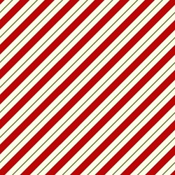Ring In The Holly Days- Diagonal Candy Cane Stripes -  by Mary Jane Carey for Henry Glass Fabrics