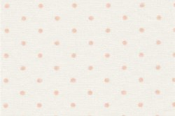 "17"" Remnant Piece- 3 Sisters Favorites - Cream/Pink Dots - Moda"