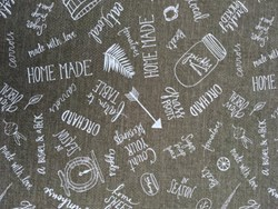 "18"" Remnant - Freshly Picked Word Toss Fabric - By Wilmington Prints"