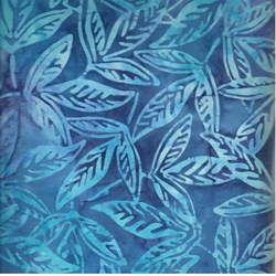 Indo Batiks - Blue Leaf - by A.E.Nathan Co