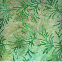 Indo Batiks - Green Leaf - by A.E.Nathan Co