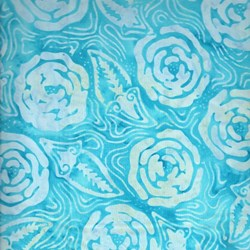 Indo Batiks - Turquoise Rose - by A.E.Nathan Co