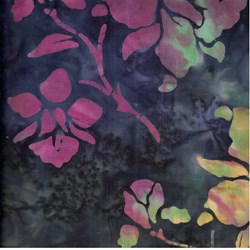 Indo Batiks - Multi Colored Floral on Dark Backgrounds - by A.E.Nathan Co