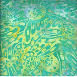 Indo Batiks - Lime Green and Yellow - by A.E.Nathan Co
