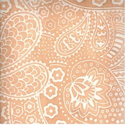 END OF BOLT- Indo Batiks - Pale Orange Paisley - by A.E.Nathan Co