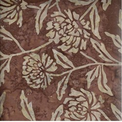 Indo Batiks - Brown Floral - by A.E.Nathan Co