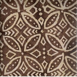 Indo Batiks - Brown Tribal - by A.E.Nathan Co