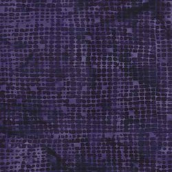 "End of Bolt - 53"" - Anthology Hand Made Batik - Dark Purple Geometric"