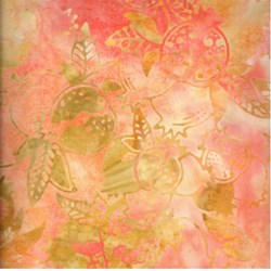Anthology Hand Made Batik - Orange Leaf and Tree